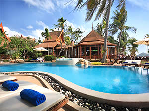Thai House Beach Resort 3*sup - spiaggia di Lamai