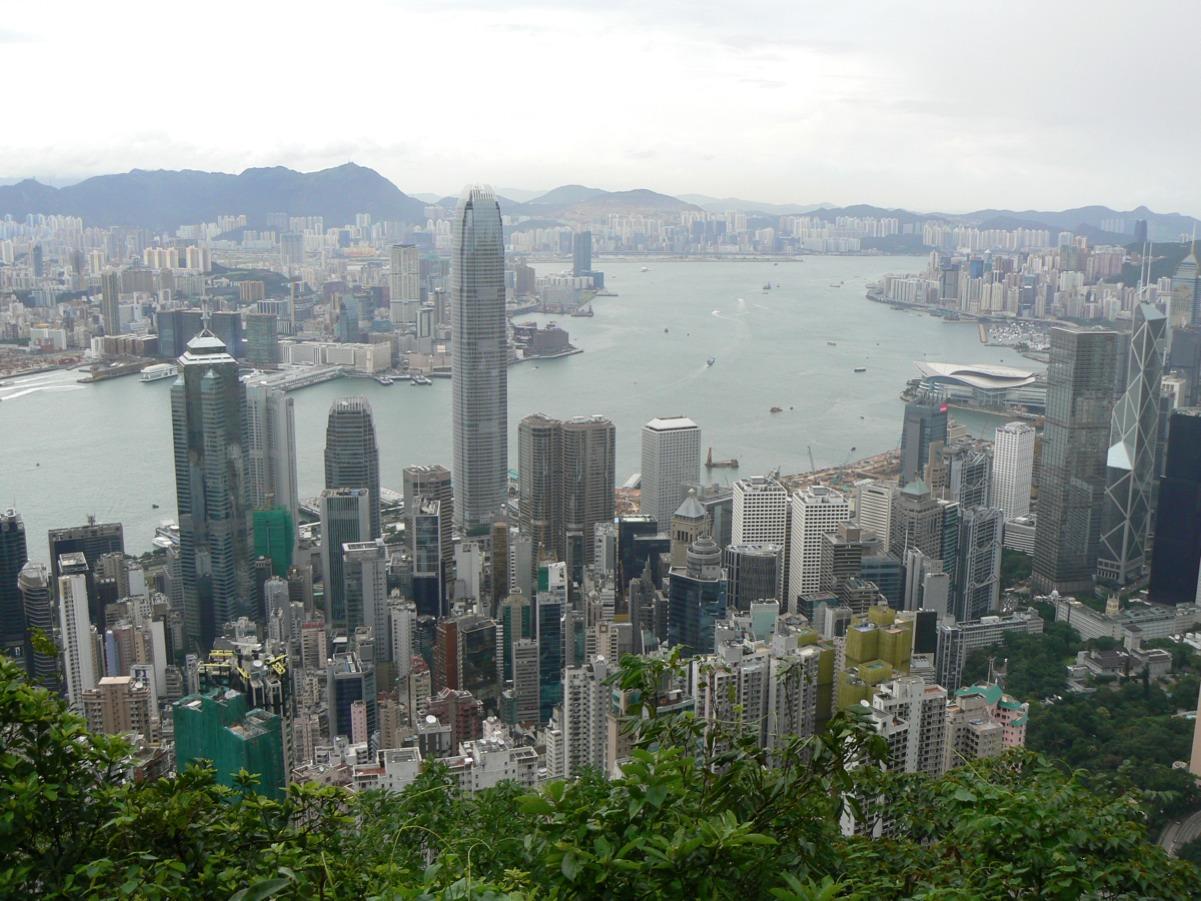 Panoramica dell'isola di Hong Kong