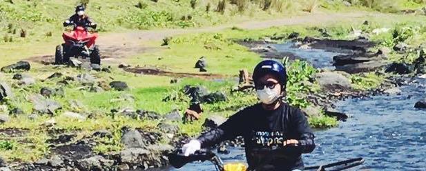 In quad sul vulcano