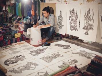 Alla ricerca degli artisti a Luang Prabang