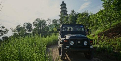 L'altopiano del Loess in jeep